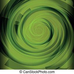 Green Color Spiral Background