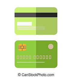 Green colored credit card