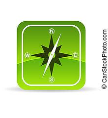 Green Compass Icon