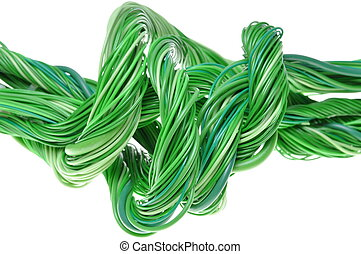 Green computer cable