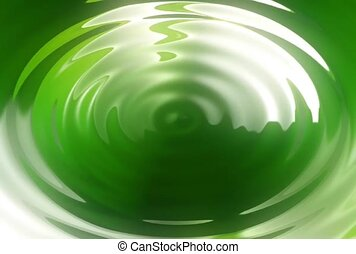 Green Concentric Circles