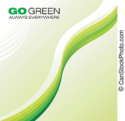 Green Concept Background - Ecology green style concept...