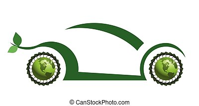 Green concept car promoting electric or hydrogen propulsion ...