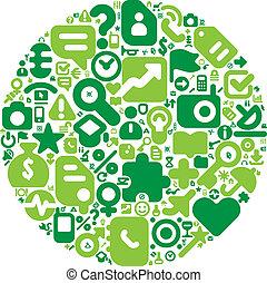 Green concept of human world