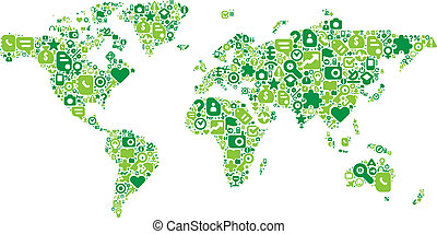 Green concept of World map