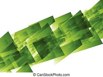 Green concept tech geometric background
