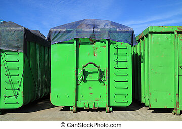 green containers