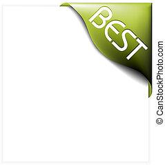 Green corner ribbon for bestseller