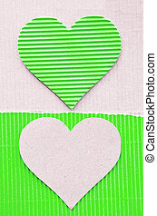green corrugated - heart green corrugated paper