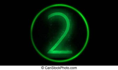 Green counter showing random numbers, seamless loop