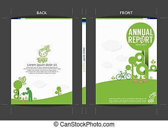 Green Cover Template Vector