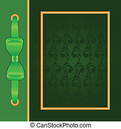 Green cover with gold frame