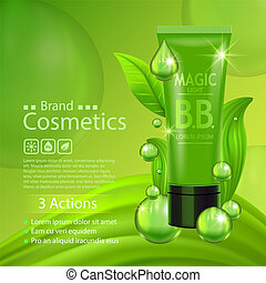 Beauty product advertising concept for cosmetic