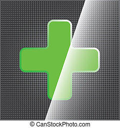 Green cross clean icon