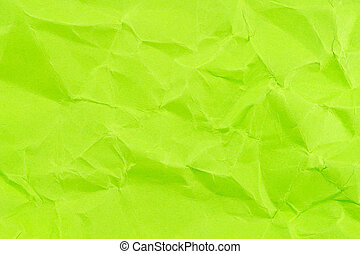 Green crumpled background paper texture