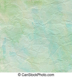 Green crumpled paper for background