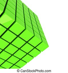 green cube abstract technology background