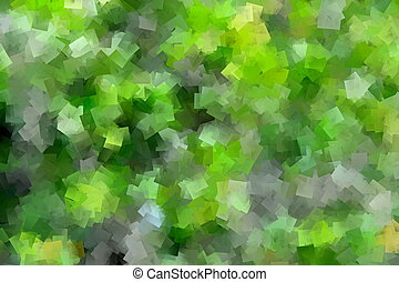 Green Cubism Design