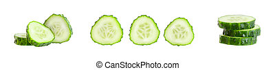 Green cucumber. Vegetable isolated over white background.