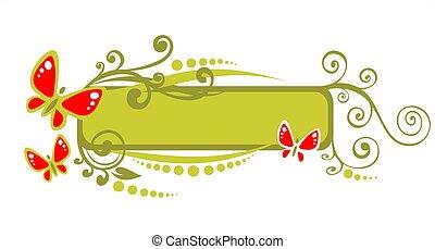 green curls frame