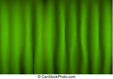 Green Curtain Brightly lit for your background vector