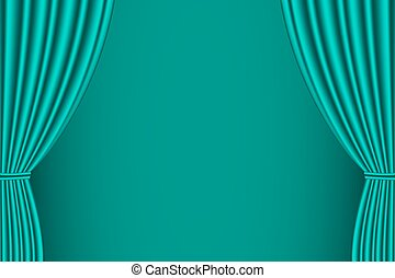 Green curtain opened.
