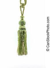 Green curtain tassel interior decoration. - Green curtain...
