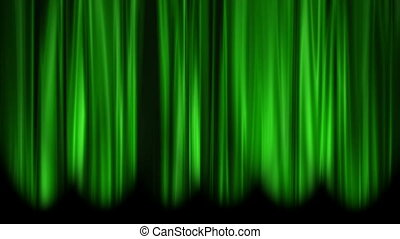 Green Curtains open