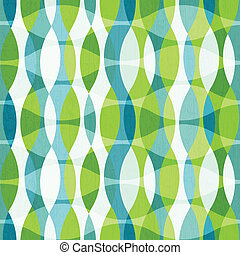 green curves seamless pattern with grunge effect
