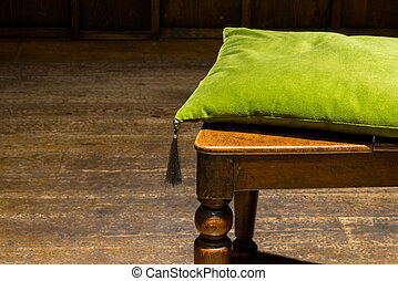 Green Cushion on Wooden Chair (2)