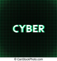 green cyber message