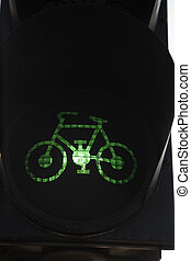 Green cyclist traffic light
