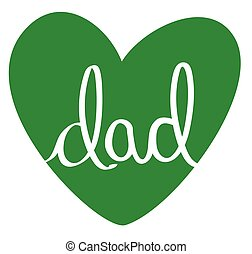 Green Dad Heart