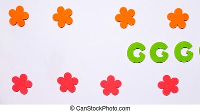 Green dancing letter G of the English alphabet. Dancing letter on a white background.