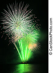 green dandelion fireworks