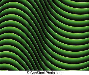 Green dark abstract wave background.