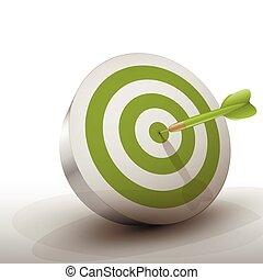 Green Dart - green dart hitting center of green dart board