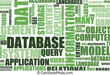 Green Database Server as a Art Background