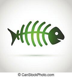 green dead fish