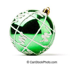 green decoration ball