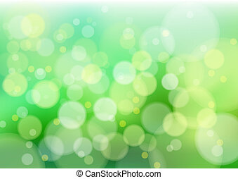 Green defocus lights - Defocused creative abstract green...