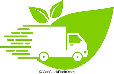 Green Delivery Logo Icon Design
