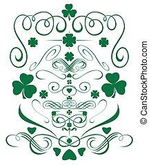Green design elements set for St. Patricks Day