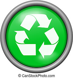 Green design recycling in round 3D button