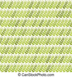 green diagonal wheat seamless pattern. vector illustration...