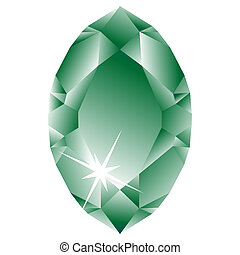 green diamond against white