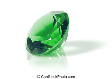 green diamond - green diamond isolated on white
