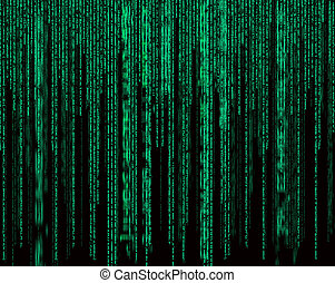 green digital abstract background