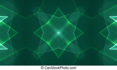 green dimension graph - kaleidoscope effect background for...