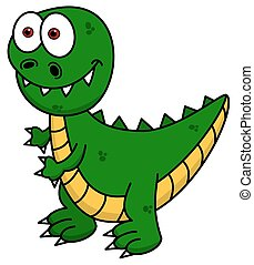 green dinosaur smiling